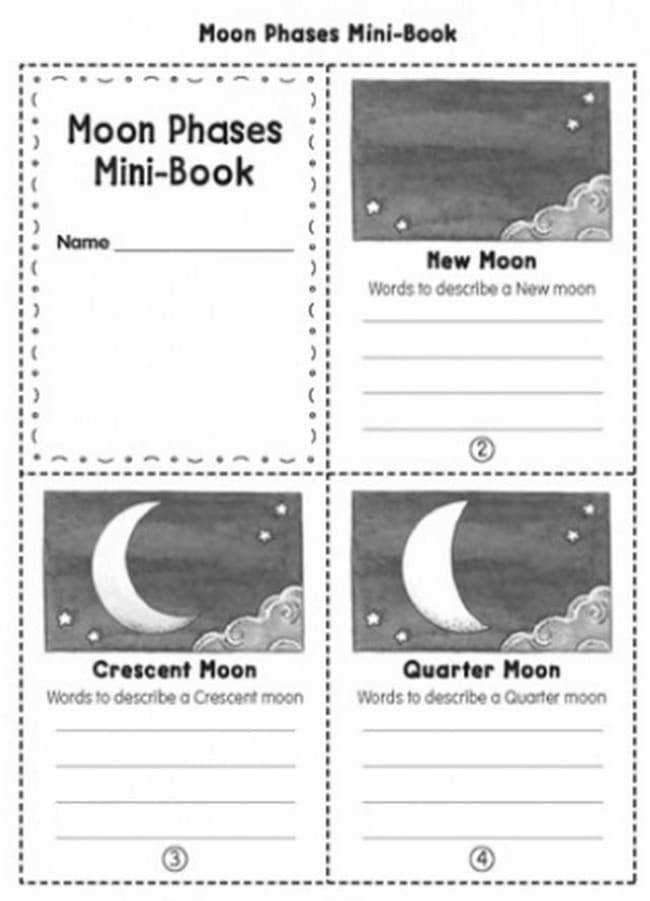 21 Super Activities for Teaching Moon Phases Moon Phases Mini Book Teach Junkie