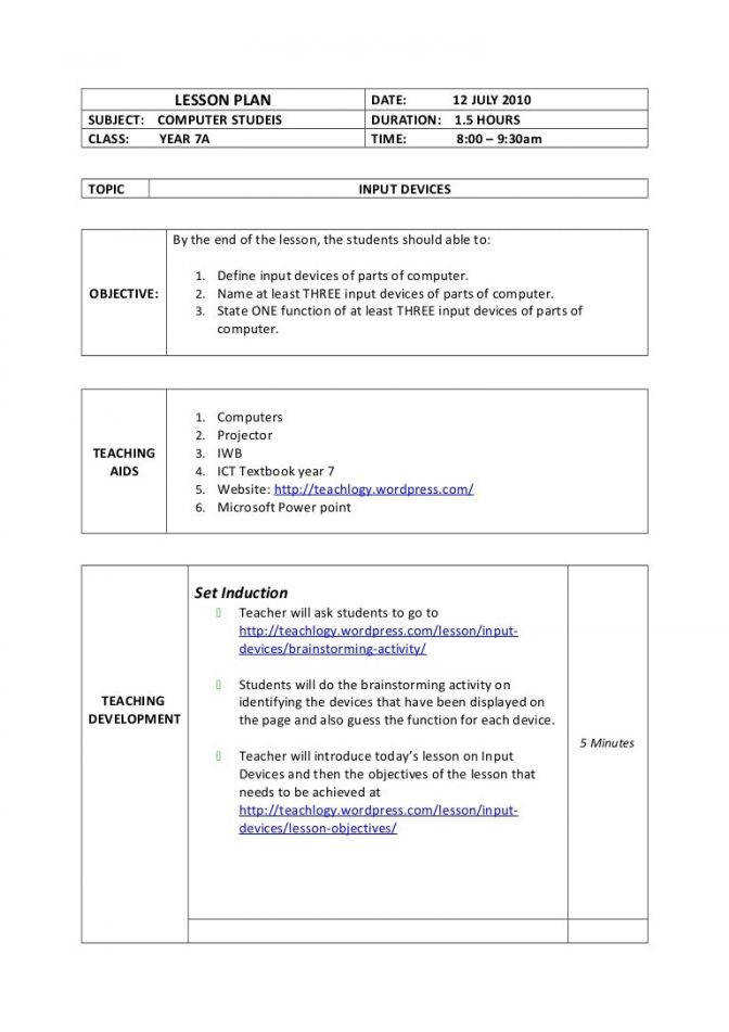 Lesson Plan Input Devices Movie Worksheets Docx Phpapp01 Thumbn Lesson Plan Worksheets Lesson Plan Medium