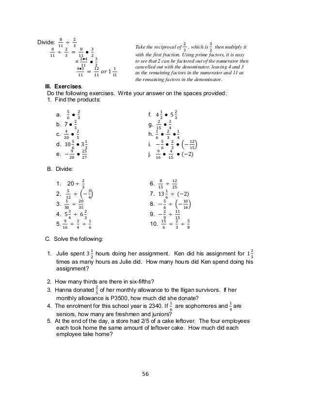 grade 7 learning module in math 61 638