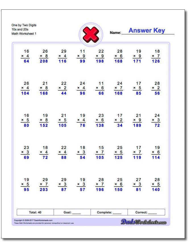 784 Multiplication Worksheets For You To Print Right Now Multiple Digit Easy Digits 10s 2 Multiple