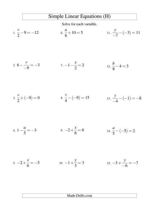 Multi Step Equations With Variables Both Sides Worksheet Pdf Solving Answer Key Alg Linear Xdivaplusminusbeqc