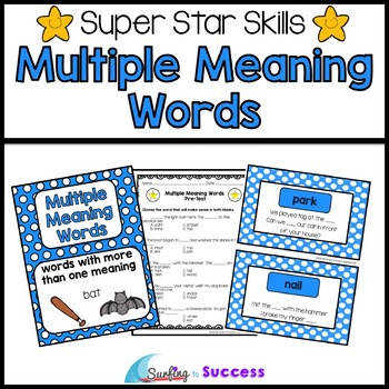 Multiple Meaning Words Assessments Games and Worksheets