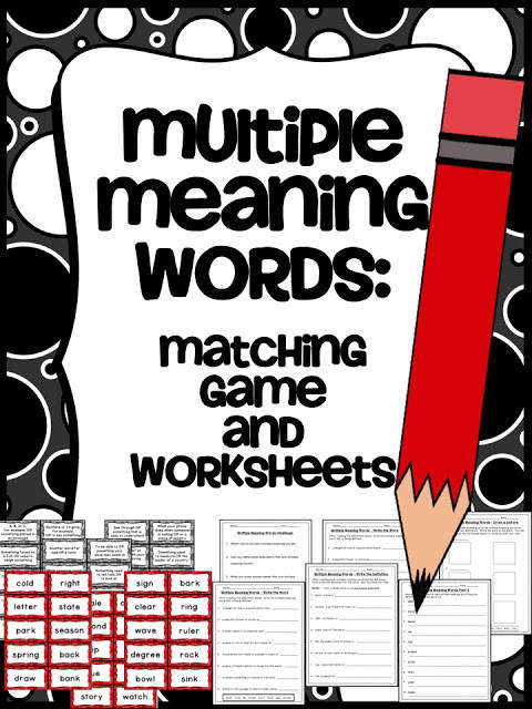 """Language Arts """"Multiple Meaning Words"""""""