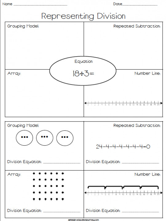Array Multiplication Worksheets Representing Division Free Worksheet Where Students Represent Math 2nde Fourth For Grade 1