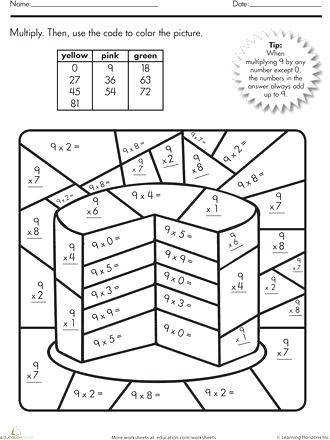 math multiplication coloring worksheets multiplication color by number cake multiplication and division coloring worksheets