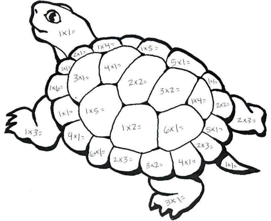 Coloring Pages Multiplication Turtle Math Coloring Pages For Halloween Sheets 2nd Grade Christmas With Problems