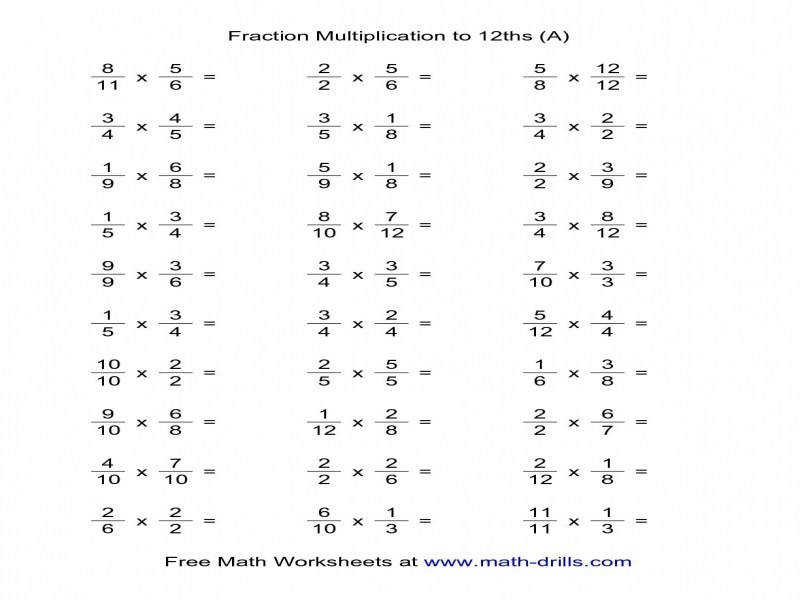 Dividing And Multiplying Fractions Worksheets Worksheets