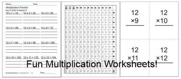 Fun Multiplication Worksheets For Kids Graphs practice worksheets flash cards and videos