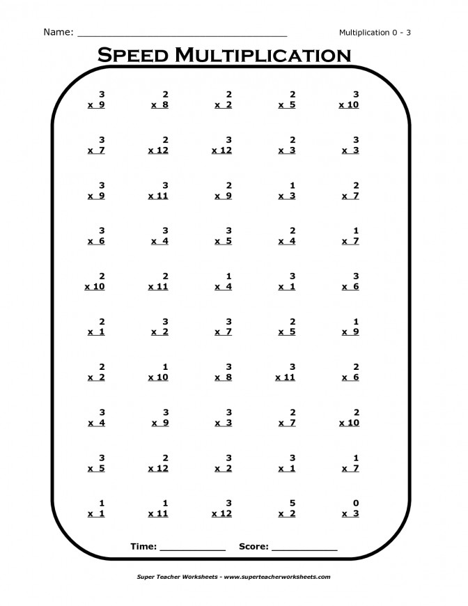Multiplication Table Worksheet | Homeschooldressage.com