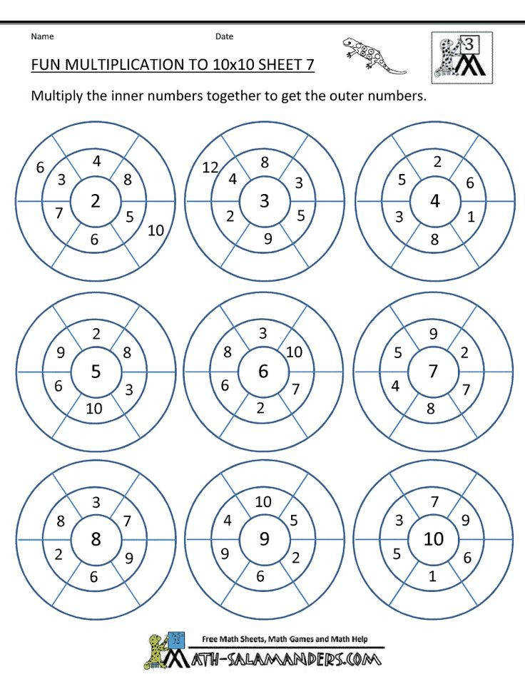 Fun Multiplication Worksheets
