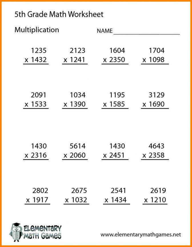 Multiplication Worksheets Grade 5 | Homeschooldressage.com