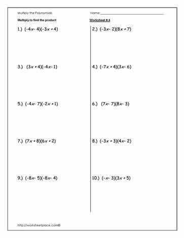 WomackMath 1st and 6th Hour Algebra 1 · Polynomials EnchantedLearning · Eighth Grade Multiplying Monomials Worksheet