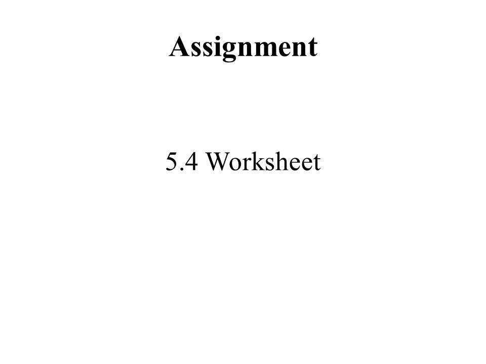 10 Assignment 5 4 Worksheet