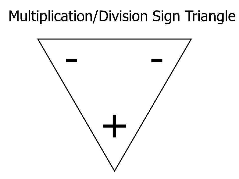 3 Multiplication Division Sign Triangle