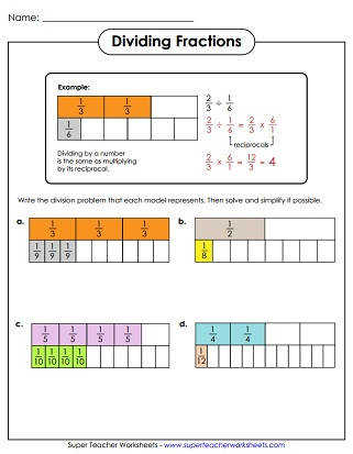 Dividing Fractions Worksheet Multiply Fractions Mixed Numbers