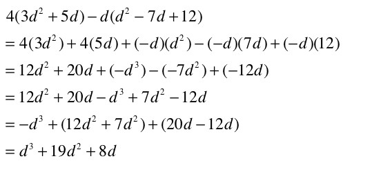 Multiplying Polynomial Monomial Math 2 Marvelous Some Equations Contain Polynomials That Must Added Subtracted Multiplied Before