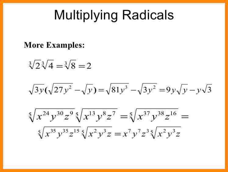10 how do you multiply radicals