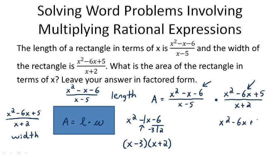 Products and Quotients of Rational Expressions Video Algebra