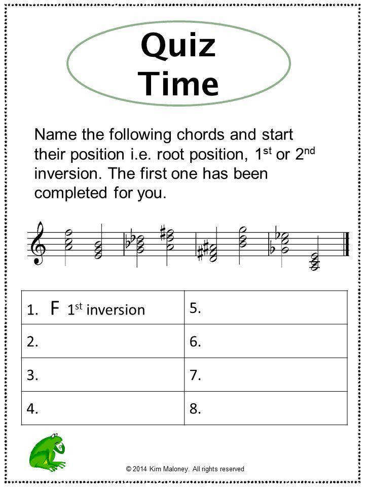 Music Theory Chords and Inversions Explained Music Worksheets
