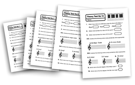print music theory worksheets