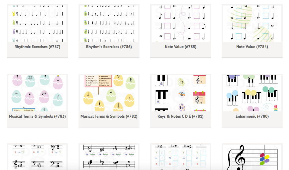 The Motherlode of Free Music Worksheets