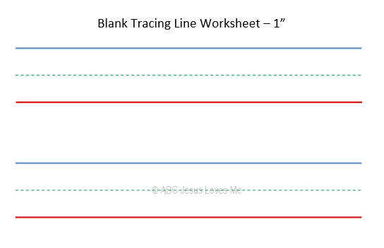 Blank Tracing Line Worksheets