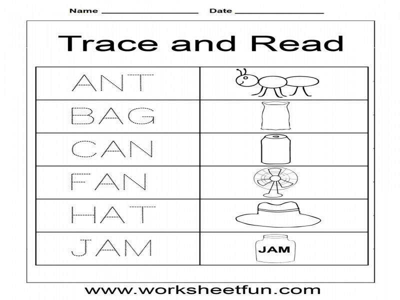 3 Letter Word Tracing Worksheets – Shishita World