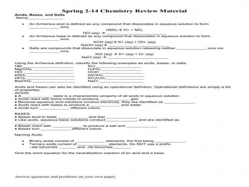 Worksheet Acids Bases And Salts Review
