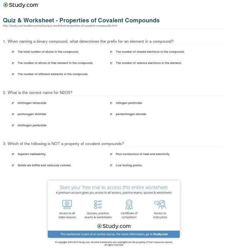 Medium Size of Worksheet chemistry If8766 Page 50 Naming Covalent pounds Type 3 Worksheet Answers