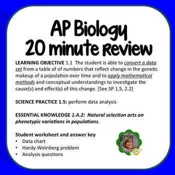 """Ants on a Rock"" is a 20 minute review worksheet covering natural selection"