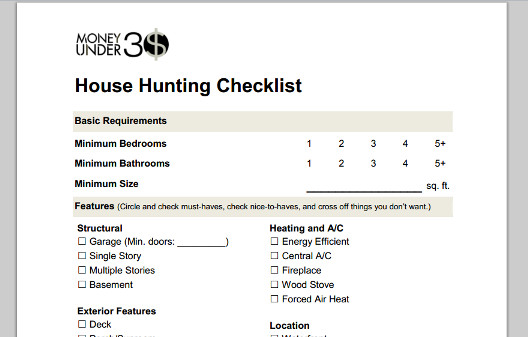Use our simple one page home ing checklist to prioritize wants and needs