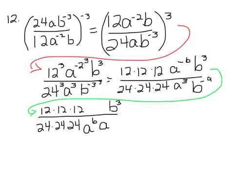 Negative Exponents and Rational Expressions worksheet problems