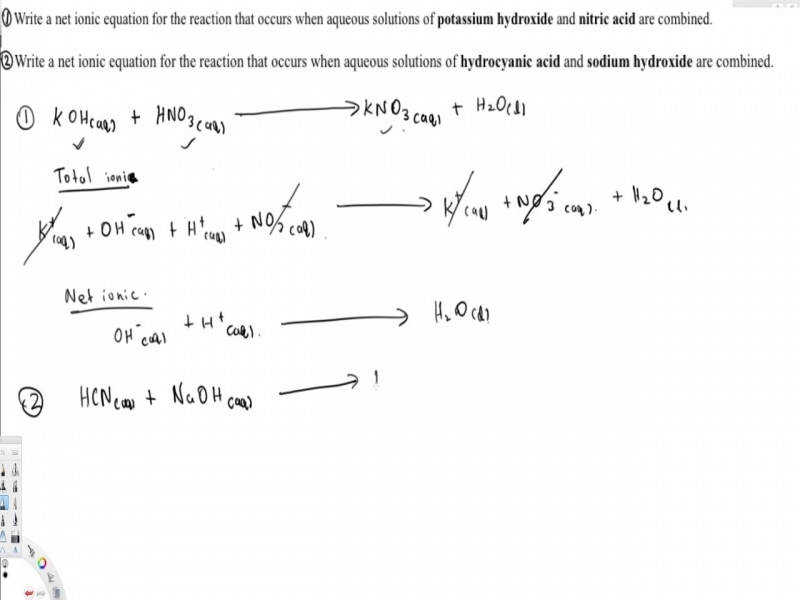 Net Ionic Equation Topics In General Chemistry 1 You