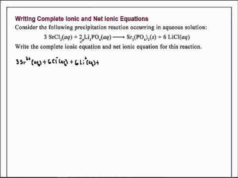 Writing plete Ionic and Net Ionic Equations Chemistry