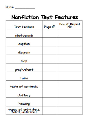 Text Features: Engaging Activities - Teaching Made Practical