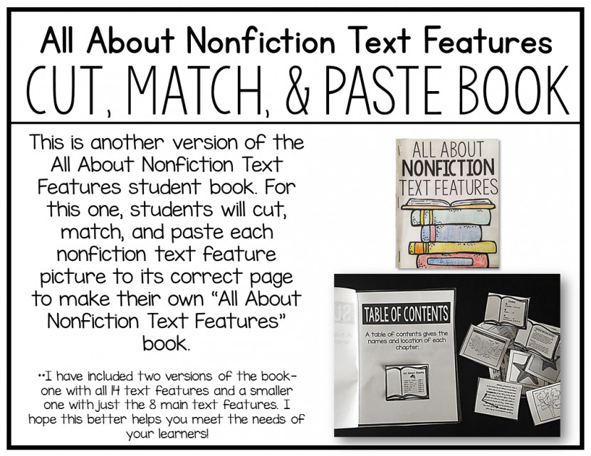 Crazy For First Grade Teaching Nonfiction Text Features Free S