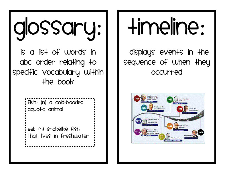 Nonfiction Text Features Matching Activity FREE | TpT FREE LESSONS ...