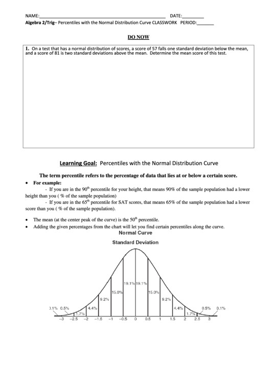 normal distribution worksheet. Black Bedroom Furniture Sets. Home Design Ideas