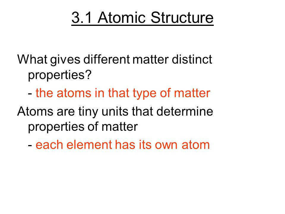 Full Image for 31 Atomic Structure What Gives Different Matter Distinct Properties Chapter 17 Properties