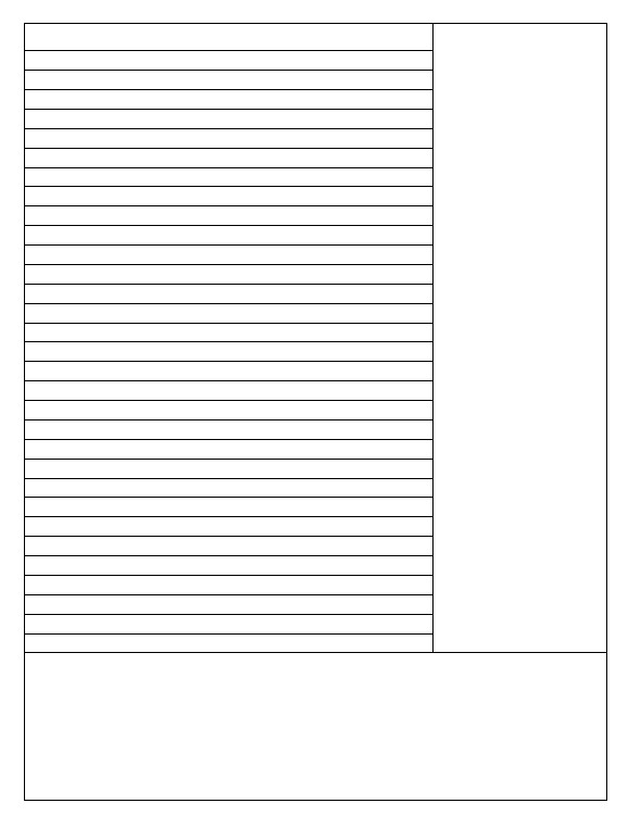 Example of a Cornell note taking template