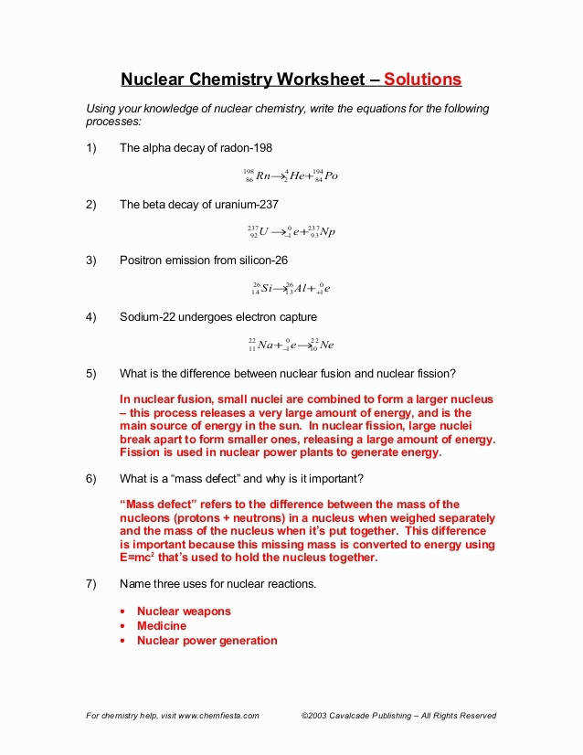 Midterm Yorktown Nuclear Chemistry Worksheet Awesome Radioactive Decay Problems