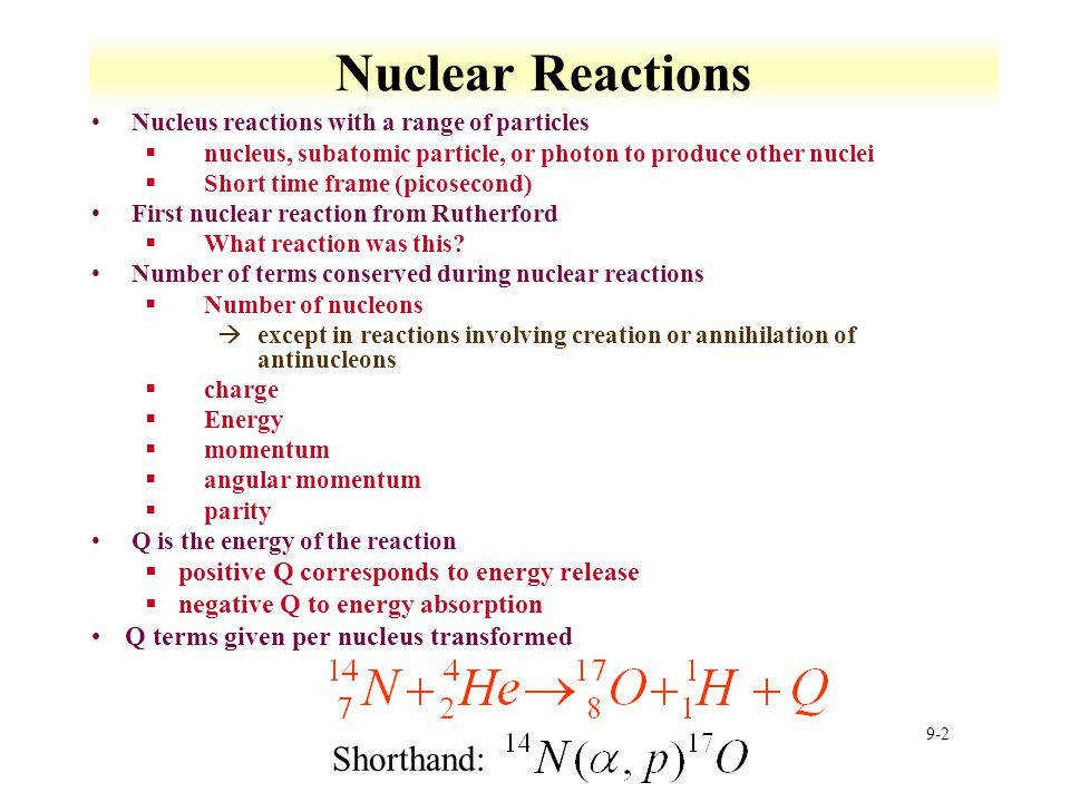2 Nuclear Reactions