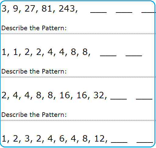 Ideas Collection Number Pattern Worksheets Grade 3 With Additional Resume Sample