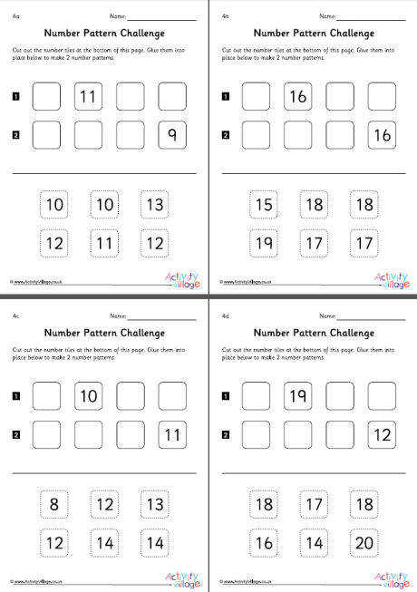 number pattern worksheets set 4 460 0
