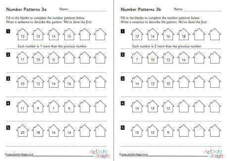 number pattern worksheets set 3 460 2