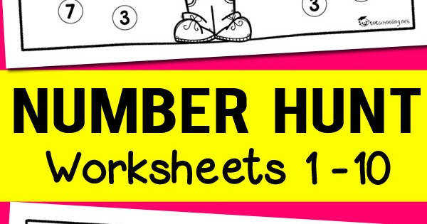 Number Recognition Worksheets