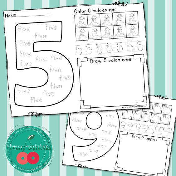 Number Sense Worksheets a j