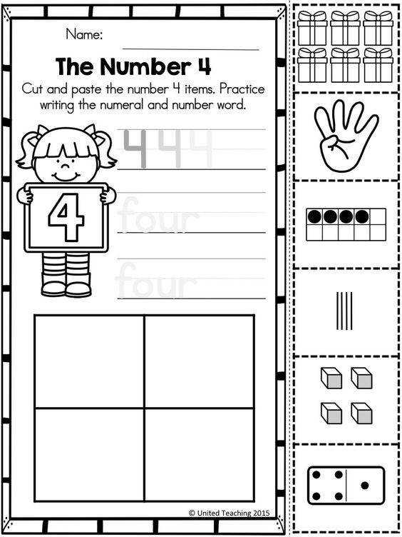 Cut and paste Number sense and Children on Pinterest