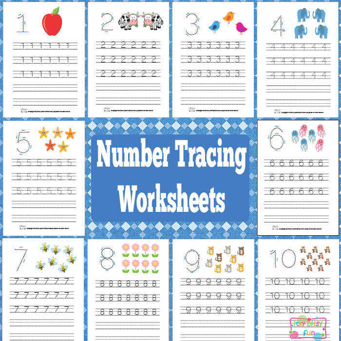 Get Printable Number Tracing Worksheets