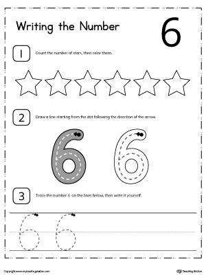 Learn to Count and Write Number 6